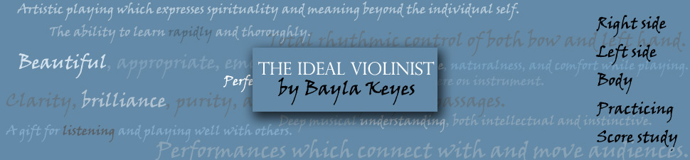 Three Systems of Intonation | The Ideal Violinist